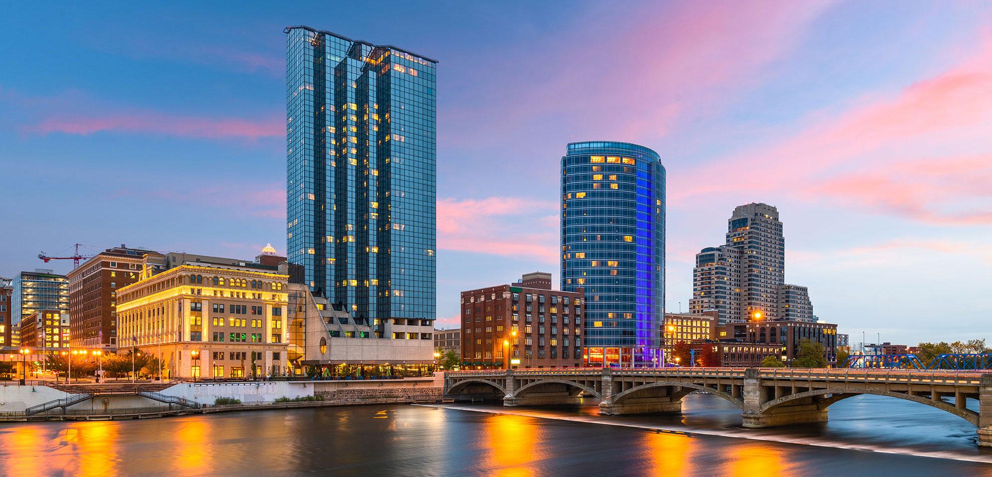 Grand Rapids Michigan Skyline